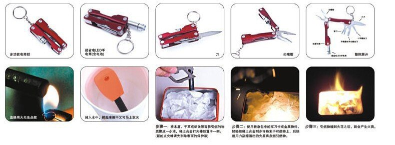 Portable SOS Tool Kit Earthquake Emergency Onboard Outdoor Survival 10