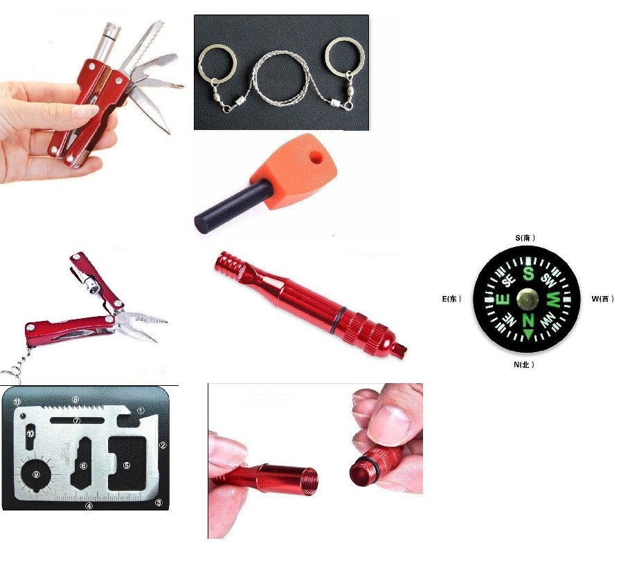 Portable SOS Tool Kit Earthquake Emergency Onboard Outdoor Survival 5